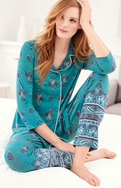 You'll welcome bedtime with our Cool Nights breathable fabric. It keeps you cool and dry and retains its shape and silky drape, even after countless washings. Womens Pyjama Sets, Sleepwear Sets, Night Wear, I Love Girls, Pajama Top, Bedtime, Pisces, Crocheting, Curly Hair Styles