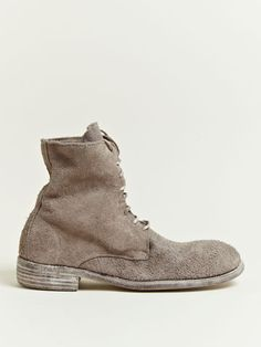 Guidi Men's Reverse Leather Bison Boots