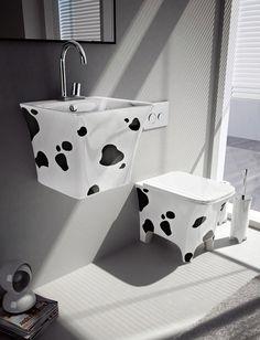 Fun Bathroom Fixtures by Artceram- Cow