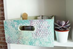 Pintura caja madera