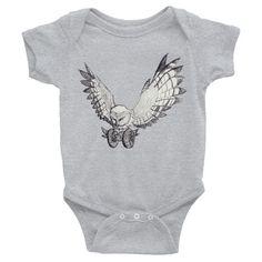 OwlWheels - Infant short sleeve one-piece