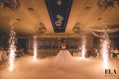 Fire after first dance as a couple, before everyone joins us on the dance floor!
