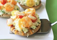Eggs and Tomato Breakfast Melts http://www.skinnytaste.com/2013/07/eggs-and-tomato-breakfast-melts.html