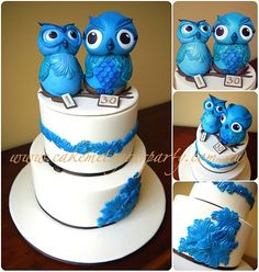 Vintage Owl Cake- gluten, nut and egg free.