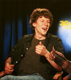 I almost died  sugar rush... how could u not smile looking at that laugh!  Jesse's laugh - jesse-eisenberg Fan Art