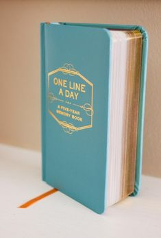 """{5 Year Journal} Every mom has at some point said: """"I should write that down!"""" in reference to hysterical things her kids have said. This 5 year journal provides 5 lines per day, just enough space to write that funny quote of the day or milestone reached and allows you to compare your family's memories on each day of the year for 5 years. I'm in year 2 and it is a priceless way to end each day--laughing about last year's quotes, documenting today's, and wondering about next year's."""