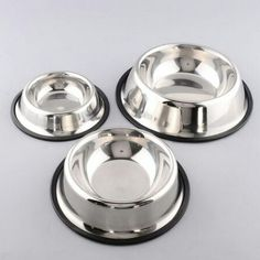 Pet Dog Stainless Steel Water Bowl Dish Travel Non Slip Durable Feeder Mascotas Cachorro Chien Perros