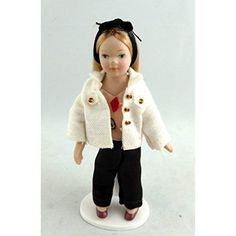 Melody Jane Dolls House Miniature Figure Porcelain People Modern Young Woman