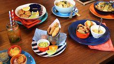 Iscas de peixe assadas com maionese temperada