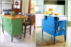 Dresser-into-kitchen-island