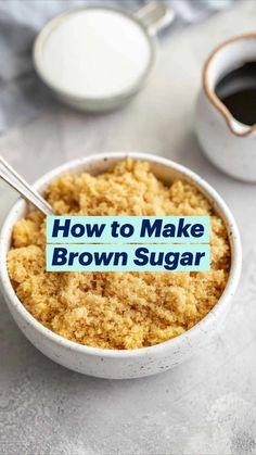 Make Brown Sugar, How To Make Brown, Baking Basics, Baking Tips, Scones, Biscuits, Copykat Recipes, Australian Food, Macaron