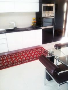 Rug is in place! Decor, Kitchen Cabinets, Eclectic, Cabinet, Places, Home Decor, Kitchen, Rugs