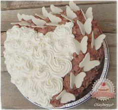 Fehér csokis-kakaós torta