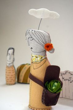 someday.... original handmade embroidered doll scene, by mummysam