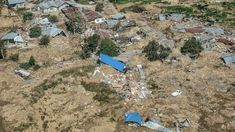 """At least 832 die in Indonesia tsunami and earthquake -- """"An aerial view of part of the city destroyed [on 28 September by an earthquake and tsunami in Palu"""" x [OS] Doa Ibu, Muslim Pray, Academia Militar, Earthquake And Tsunami, Natural Disasters, Aerial View, Stepping Stones, City Photo, At Least"""