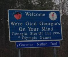 Alabama Georgia State Line In Tallapoosa County Al Georgia