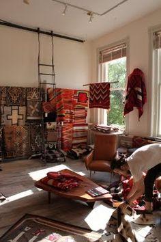I found Kyler on Pinterest working at Shiprock's textile room. Santa Fe, NM