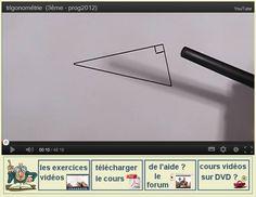 Cours Vidéo de mathématiques (Collège) Teaching Math, Maths, Letters, Learning, Letter, Calligraphy