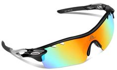 HODGSON Polarized Sports Sunglasses with 5 Interchangeable Lenses for Men Women Cycling Baseball Running Glasses, Unreakable - Black Check out the image by visiting the link. Cycling Sunglasses, Sports Sunglasses, Oakley Sunglasses, Thing 1, Lenses, Running, Baseball, Accessories, Black