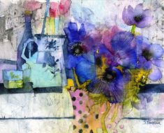 Oh those colours!                                       (Shirley Trevena watercolour)