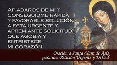 BLOG CATÓLICO DE ORACIONES Y DEVOCIONES CATÓLICAS: ORACIÓN A SANTA CLARA DE ASÍS, PARA UNA PETICIÓN U...