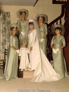 Vintage 1960s Wedding Bride w Her Maids