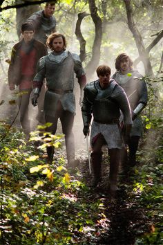 the Knights of Camelot...and Merlin, of course...