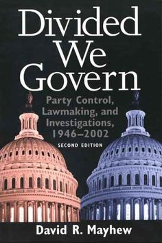 Divided We Govern: Party Control, Lawmaking, and Investigations, 1946-2002, Second Edition by Professor David R. Mayhew, http://www.amazon.com/dp/0300102887/ref=cm_sw_r_pi_dp_t4Eprb1NF94H8