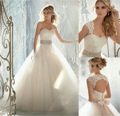 Luxury Open Back Lace Wedding Dresses 2014 Sweetheart Beaded Bridal Ball Gowns… Wedding Dresses 2014, Bridal Dresses, Wedding Gowns, Bridesmaid Dresses, Lace Wedding, Dresses 2016, Elegant Wedding, Wedding Girl, Prom Dresses