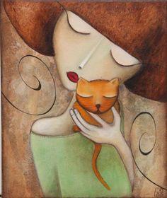 Caline (Painting), 25x30 cm par Armandine Jacquemet Soares acrylique sur toile