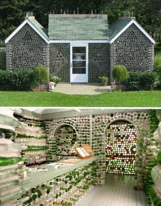recycled-bottles-DIY-glass-house-prince-edward-island