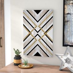 'Earthy Lux' Graphic Art Print on Wood Wooden Wall Art, Diy Wall Art, Wall Art Decor, Wood Wall, Wood Print, Art Print, Willow Wood, Geometric Wall Art, Picture On Wood