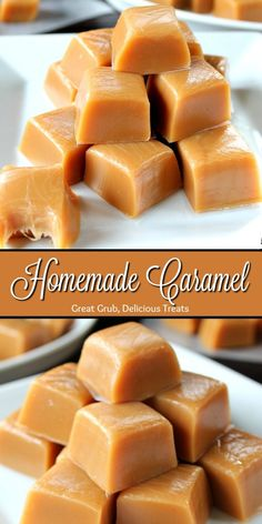 Homemade caramel candy - Homemade Caramel is creamy, chewy and the best caramel recipe on the planet homemade caramel desserts dessertfoodrecipes greatgrubdelicioustreats Homemade Caramel Recipes, Homemade Candies, Fudge Recipes, Baking Recipes, Cookie Recipes, Dessert Recipes, Homemade Desserts, Homemade Food Gifts, Chewy Caramels Recipe