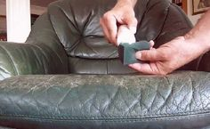 Leather Furniture Color Repair Kit Roselawnlutheran pertaining to dimensions 1920 X 1080 Repairing Leather Sofa Seats - A leather couch can be your best Sofa Cleaning Services, House Cleaning Tips, Cleaning Hacks, Cleaning Solutions, Spring Cleaning, Old Cabinet Doors, Old Cabinets, Couch Repair, Couch Protector