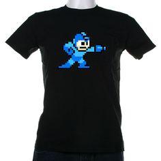 Megaman 8 bit sprite Video game shirt by StirTheatreTshirts, $16.00