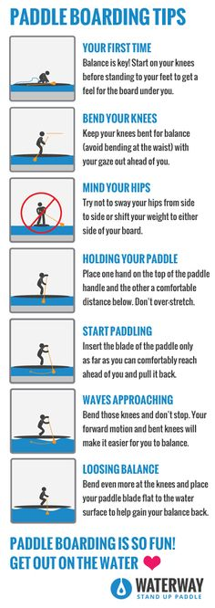 Paddle Boarding Tips. Learn to paddle board! Top tips for headed out on an #SUP. Love, Like, Pin!