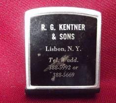 #Penguins Vintage Metal #Mini Pocket #Ruler #Advertising Souvenir Lisbon, New York