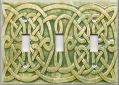 Light Switch Plate Cover - Celtic Knot - Sage Green