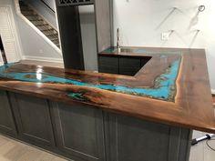 Live Edge Bar, Live Edge Table, Diy Resin Table, Epoxy, Concrete Table, Concrete Counter, Wood Countertops, Wood Table Design, Walnut Table