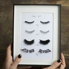 DIY Fake Eyelashes Wall Art