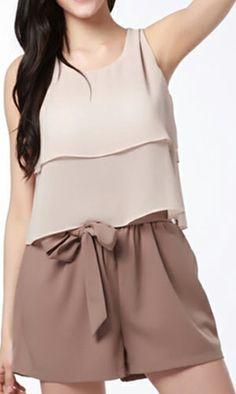 5c1caf85508ad Chocolate color chiffon jumpsuit. Free Shipping Worldwide