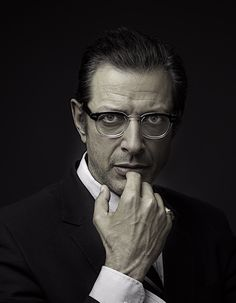 Jeff Goldblum. Because he looks really good in a suit and glasses. Like a gracefully aging hipster.