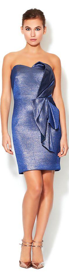 Notte By Marchesa ●  Brocade Draped Dress