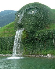 Swarovski Kristallwelten - Wattens, Austria. This hides the entrance to the Swarovski Crystals HQ - an amazing experience to visit.