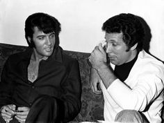 elvis and tom jones.  Lordy... being in this room?  Whew!!  Elvis was SO HOT!  And Tom was too...  :)