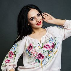 Embroidered blouse floral blouse vyshyvanka Mexican blouse white peasant blouse peasant blouse embroidered blouse peasant blouse top boho Elements of the hand embroidery are floral elements, which lovely heart of every girl. I`m using silk thread in embroidery. The front part