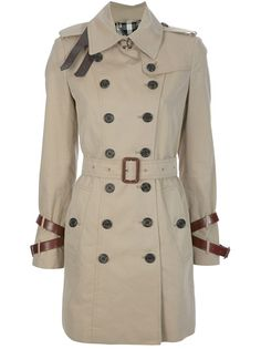 BURBERRY LONDON 'Queensborough' Trench Coat >> Love the leather details
