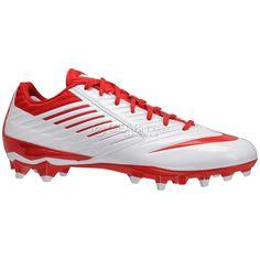 7282d6f6c1e3 New  100 Nike Vapor Speed LAX Mens Lacrosse Cleats LX Football White Red    11.5