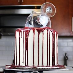 """This """"One Glass Too Many"""" Wine Cake Just Gets UsDelish"""