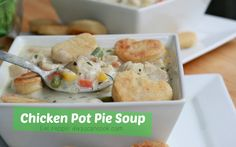 Creamy, Cozy Chicken Pot Pie Soup!